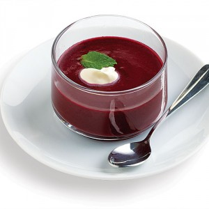 Wild Blueberry Soup with Mint