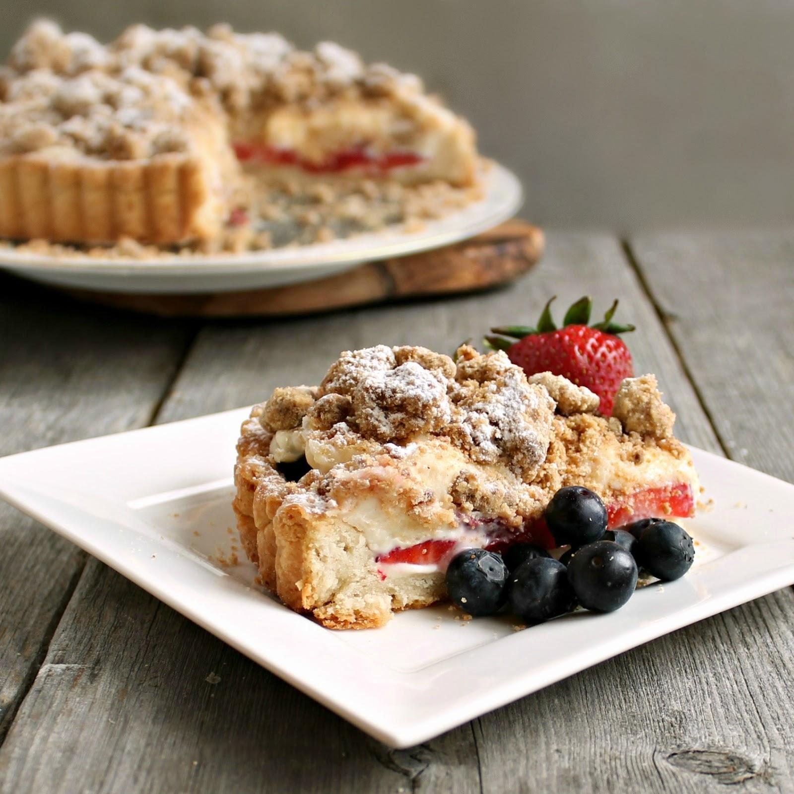 Berry Cheesecake Crumb Tart