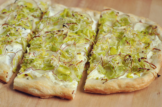 Leek, Ricotta and Lemon Flatbread