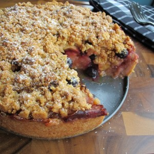 Apple Blueberry Pie-Cake