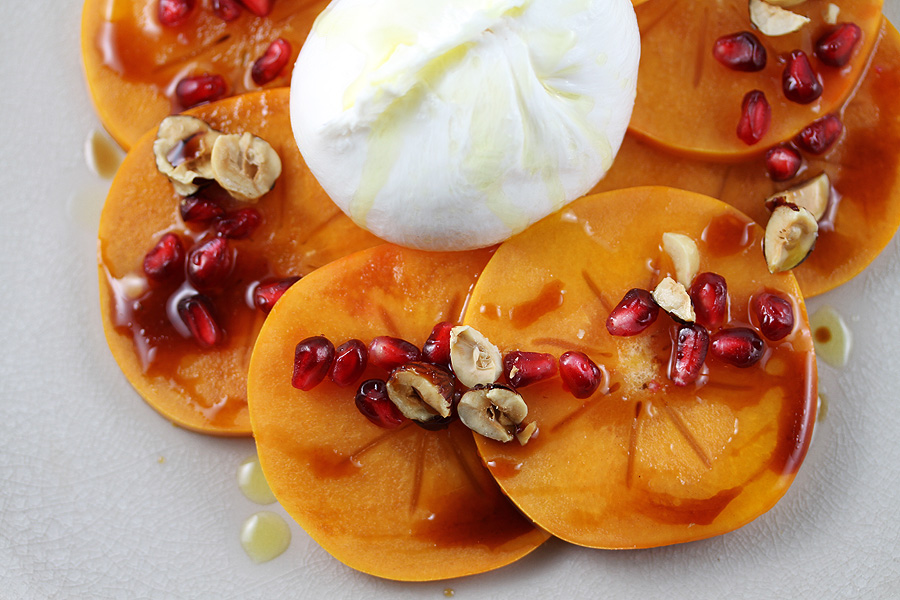 Persimmon and Burrata Carpaccio