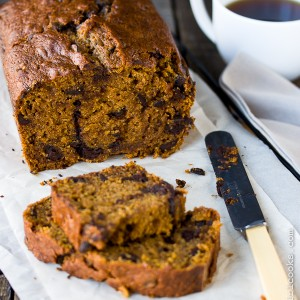 Dark Chocolate-Espresso Pumpkin Bread