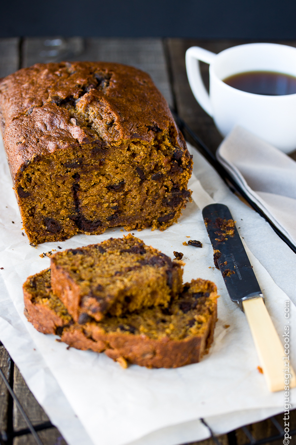 Dark Chocolate-Espresso Pumpkin Bread