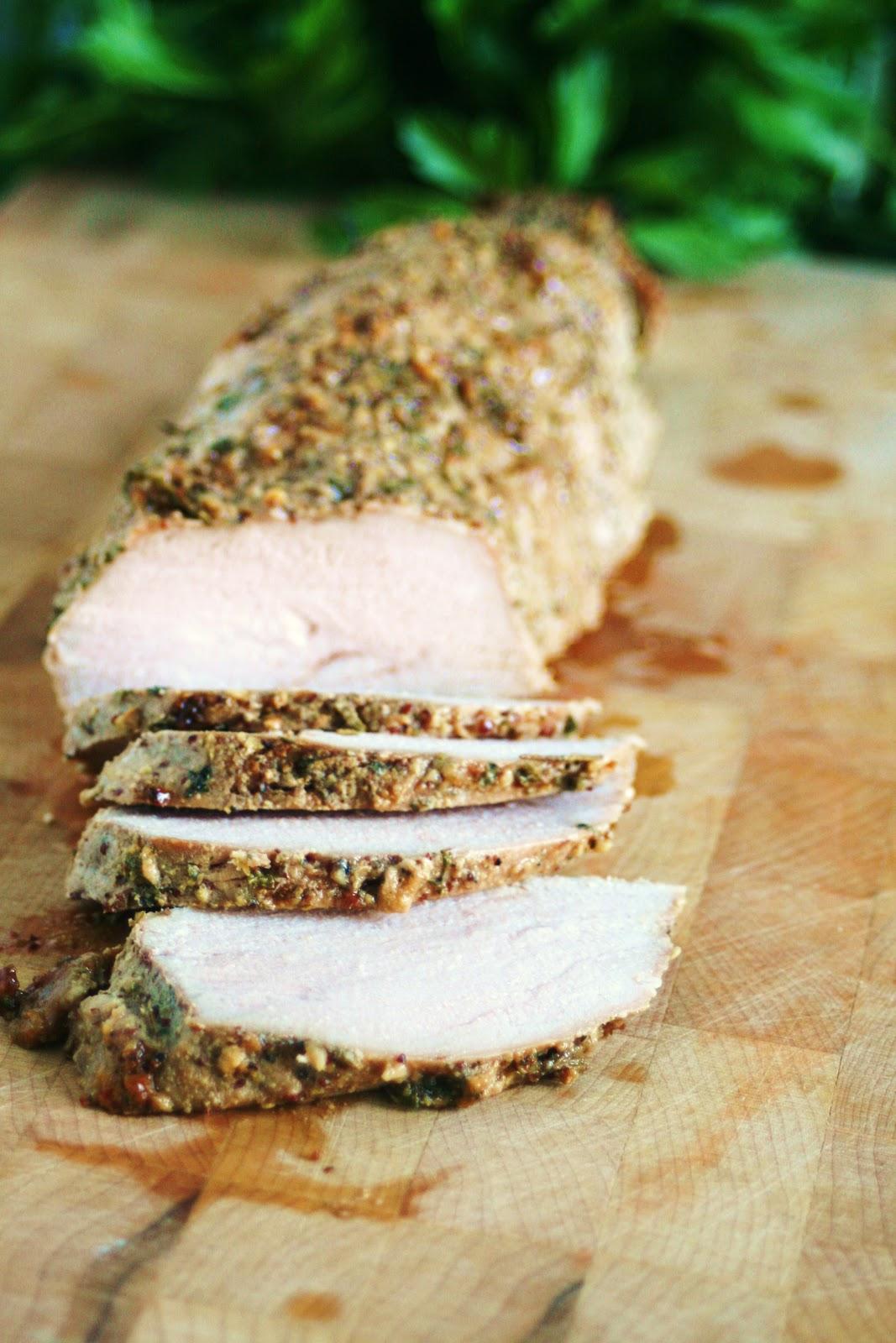 Herb Dijon Crusted Pork Tenderloin