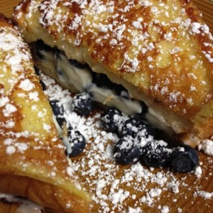 Blueberry Stuffed Egg Nog French Toast