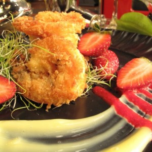 Panko Shrimp with Strawberry Aioli