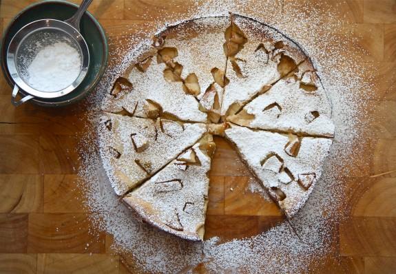Baked Apple Gingerbread Pancake