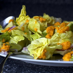 Avocado Salad with <br>Carrot-Ginger Dressing
