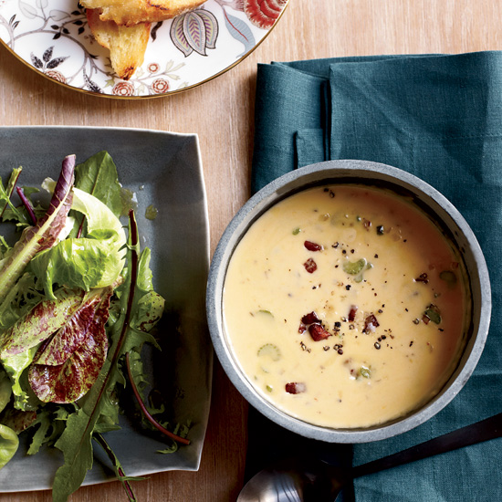 Beer-and-Cheddar Soup