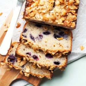 Blueberry Almond White Chocolate Banana Bread<br>