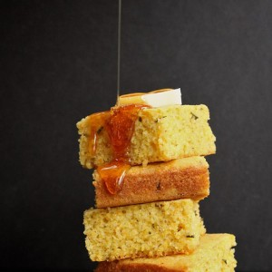 Brown Butter <br>Rosemary Orange Cornbread<br>