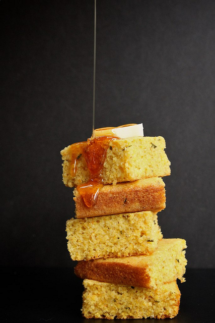 Brown Butter <br>Rosemary Orange Cornbread<br>