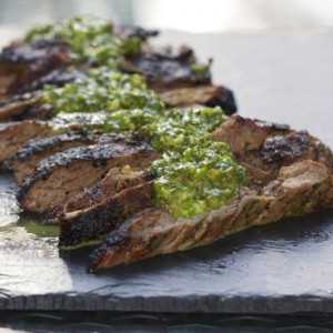 Grilled Skirt Steak<br> with Chimichurri Sauce<br>