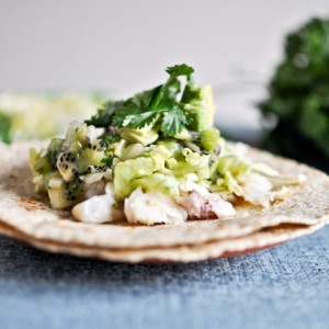 Grilled Coconut Lime Tilapia Tacos with Kiwi Salsa