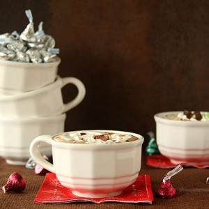 Cherry Cordial and Mint Truffle Kiss Hot Chocolate w/ Marshmallow Whipped Cream