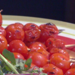 Marinated Grilled Cherry Tomatoes Skewers