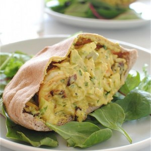 Curried Shrimp<br> Salad Pita Pockets