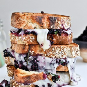 Grilled Fontina and Blackberry Basil Smash Sandwiches<br>