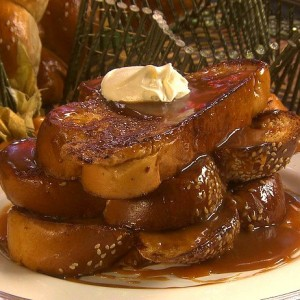 French Toast with Salted Caramel and Creme Fraiche<br>