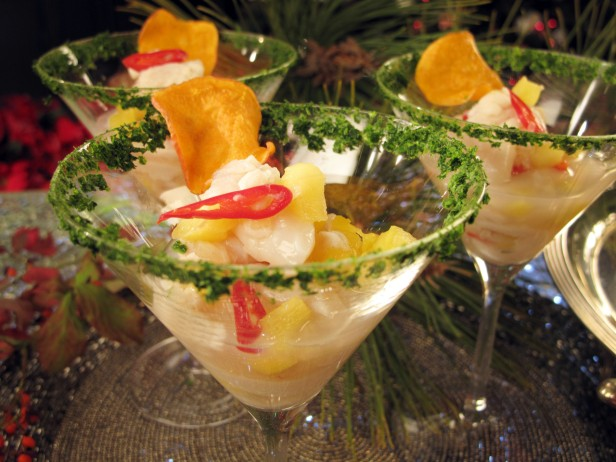 Fresh Scallop <br>and Pineapple Ceviche<br>