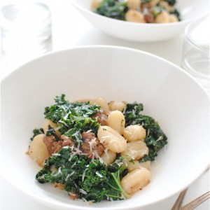 Gnocchi with <br>Sausage and Kale