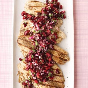 Grilled Tilapia <br>with Cherry Salsa