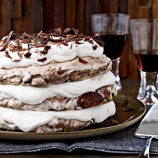 Hazelnut and Chocolate Meringue Cake