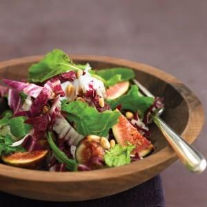 Arugula Salad with Figs, Pine Nuts and Radicchio