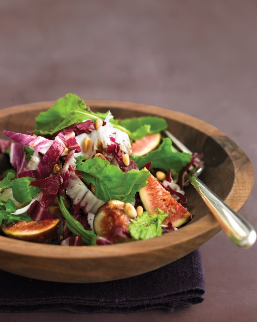Arugula Salad with Figs, Pine Nuts and Radicchio