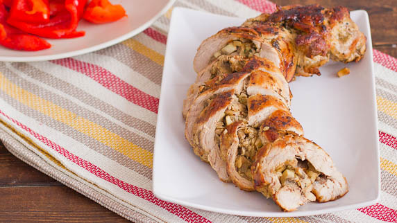 Mushroom Filled Pork Tenderloin
