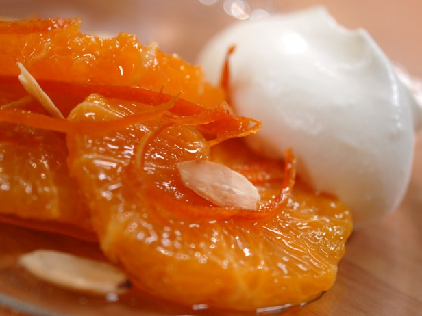 Oranges with Amber Caramel and Candied Zest<br>
