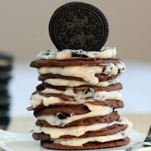 Oreo Cookie <br>Pancakes