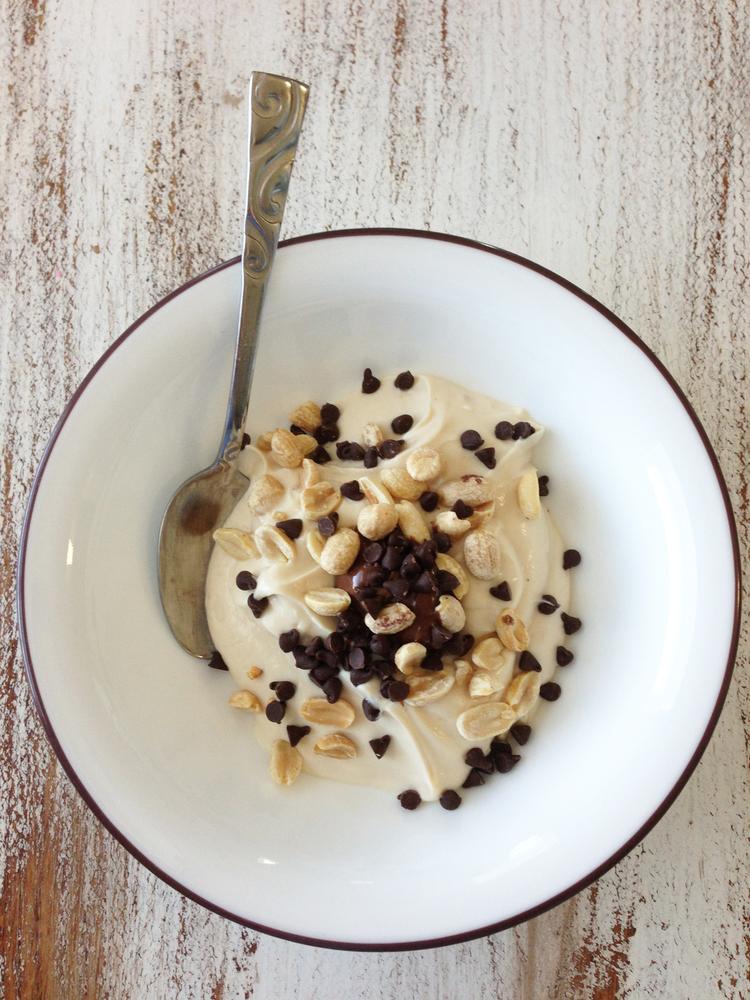 Peanut Butter Chocolate Chip Yogurt