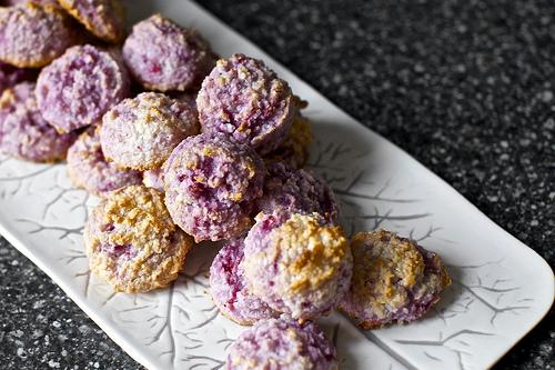Raspberry<br> Coconut Macaroons