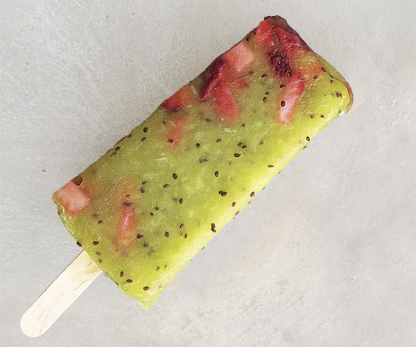 Kiwi-Strawberry Ice Pops
