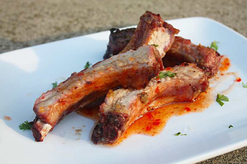 Grilled Mekhong Baby Back Ribs with Thai Sweet Chili Sauce