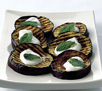 Grilled Eggplant with Lebneh