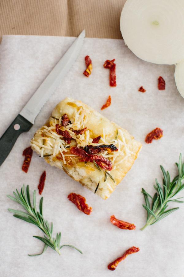 Sun-Dried Tomato, Onion and Rosemary Focaccia Bread