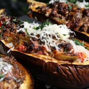 Greek Stuffed Eggplant