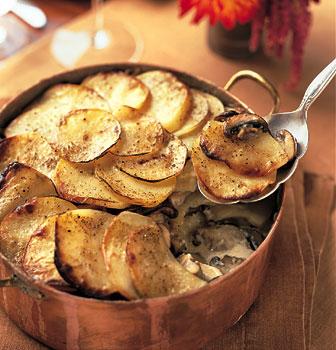 Yukon Gold Potato with Wild Mushroom Gratin