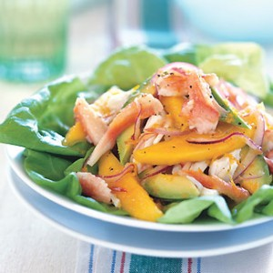 Crab, Mango and Avocado Salad with Citrus Dressing