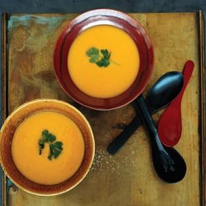 Pumpkin, Corn and Lemongrass Soup