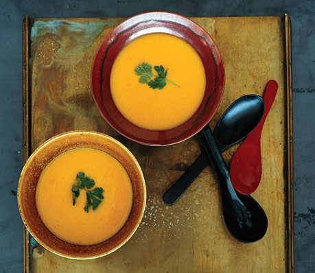Pumpkin, Corn and Lemongrass Soup