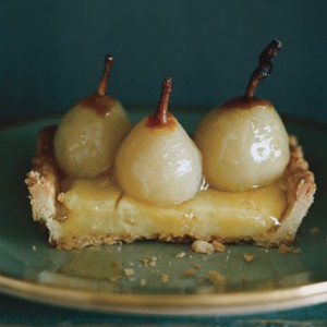 Seckel Pear Tart with Poire William Cream