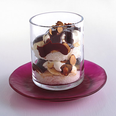 Chocolate, Almond and Banana Parfaits