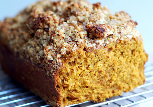 Toasted Hazelnut Streusel Pumpkin Bread