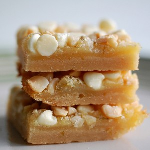 Lime White Chocolate Macadamia Bars