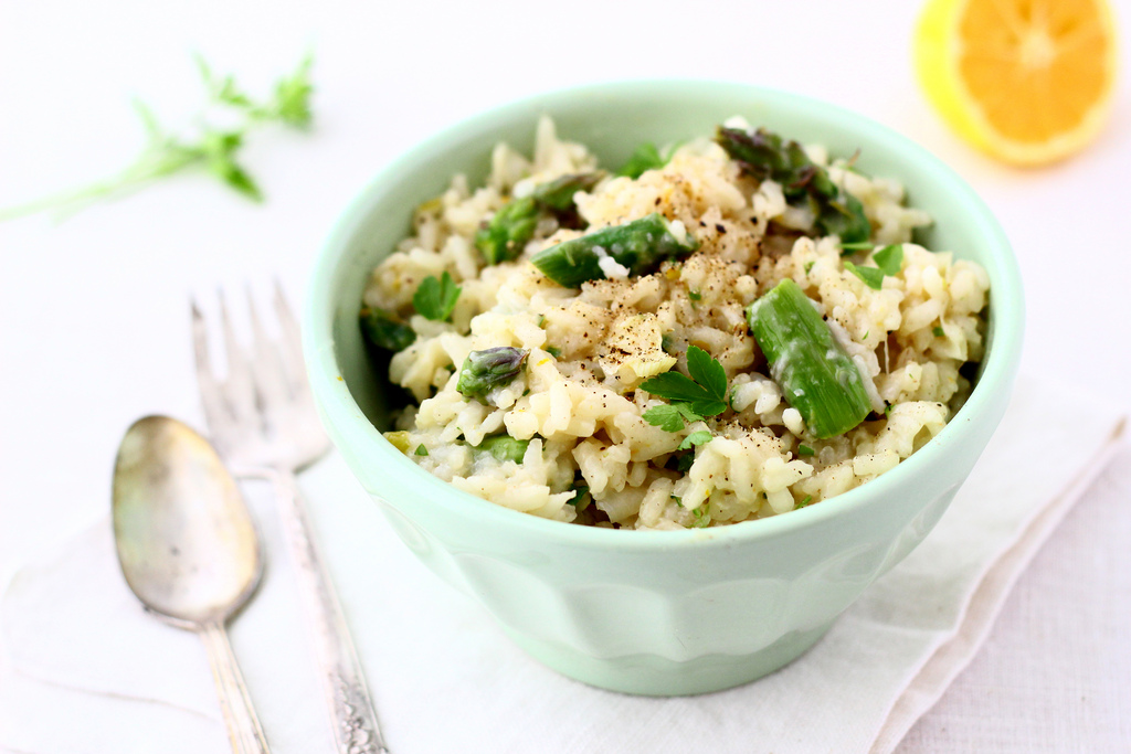 Asparagus and Spring Onion Risotto