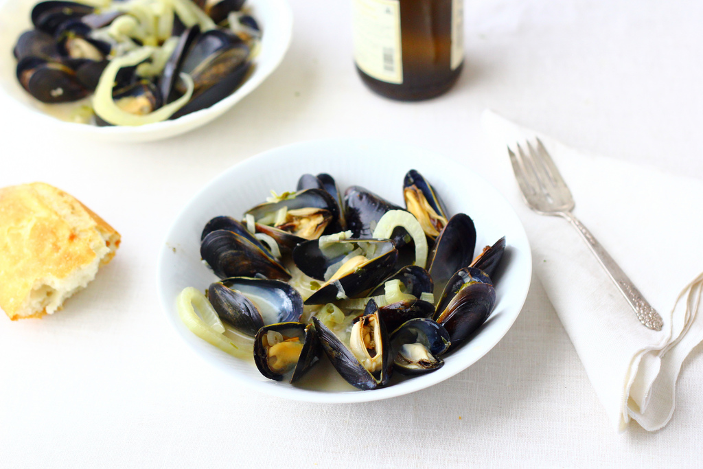 Mussels and Fennel in Ale