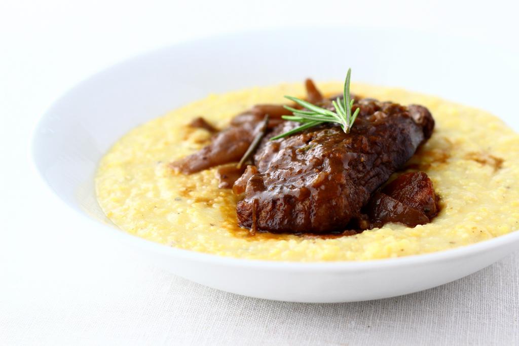 Lamb Osso Buco with Creamy Polenta
